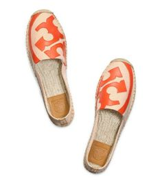 Another dream shoe :( LONNIE FLAT ESPADRILLE - NATURAL-TIGER LILY/TIGER LILY/CUSTOM TAN (Tory Burch)