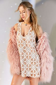 For Love & Lemons Metz Star Lace Mini Shift Dress - Urban Outfitters