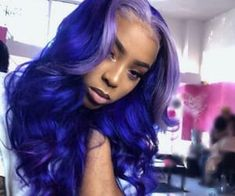 Full lace wig purple color with gray root wave long human hair wigs – Colored Contacts Bloğ My Hairstyle, Wig Hairstyles, Colored Weave Hairstyles, Curly Hair Styles, Natural Hair Styles, Hair Styles With Weave, Cute Hair Colors, Birthday Hair, Hair Laid