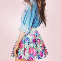 flower skirt outfits - Cerca con Google