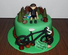 Mountain Biking  Cake by pamelascreativecakes
