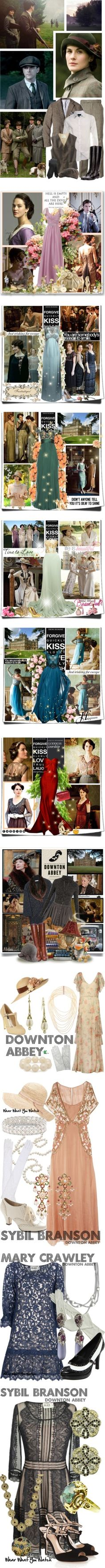 Favorite Downton Abbey Sets by weavingmaiden on Polyvore featuring мода, Ralph Lauren, Barbour, GANT, Burton, Tory Burch, Jacamo, Nanny State, TV and downtonabbey