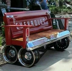Unique repurposed bench!!! Bebe'!!! Amazing!!!