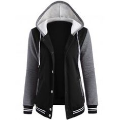 SHARE & Get it FREE | Contrast Sleeve Fleece Baseball Hoodie JacketFor Fashion Lovers only:80,000+ Items • FREE SHIPPING Join Twinkledeals: Get YOUR $50 NOW!