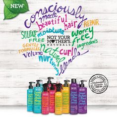 Vegan haircare by Not Your Mother's Naturals #veganhaircare #glutenfree #ecofriendly