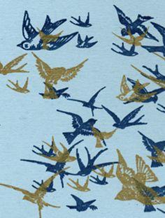 birdies in a blue sky