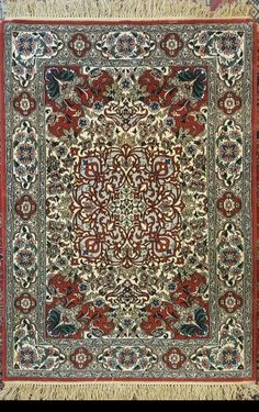 "Isfahan - Wool on Silk 115x82 cm 4'5""x3'2"""