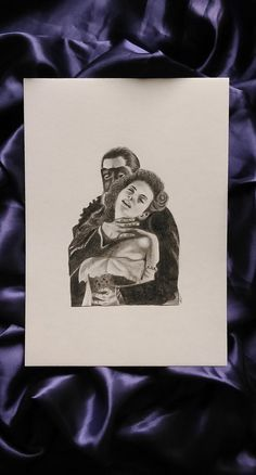 ORIGINAL 'The Phantom' Framed Pencil Drawing. Hand Drawn on Canson Watercolour Artist Paper by Layce.