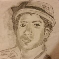 Bruno Mars portrait by Jade Hurdle (me)