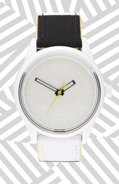 Quest & Quality 'SmileSolar' Solar Powered Strap Watch (40mm) White #shop