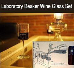 Laboratory Beaker Wine Glass Set