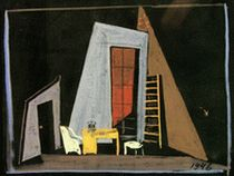 "Scenery design  for the staging of ""We Have Realized the Truth"", 1945"