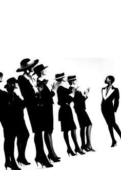 Best Fashion Look : 1982 - YSL adv by Helmut Newton Helmut Newton, Moda Fashion, 80s Fashion, Fashion History, Fashion Looks, Fashion Addict, Parisienne Chic, Claudia Schiffer, Monica Bellucci