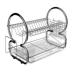 Dish Drying Rack Walmart Cool Homdox 2Tier Dish Rack And Drainboard Set Stainless Steel Dish Decorating Design