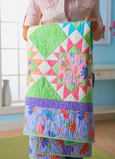 """BRIGHTEN UP"" QUILT - a very pretty quilt but the link doesn't go to the quilt (just an FYI)"