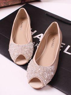 Princess luxury rhinestone beaded flat fashion open toe flat heel sandals flat female shoes-inSandals from Shoes on Aliexpress.com