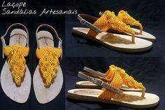 A energia do amarelo, para vencer os obstáculos do caminho... confortável, delicada e resistente...  -moda alternativa para os pés  - sandálias artesanais www.laçope.com.br