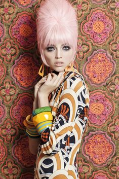 Duber Osorio's Patterns collection is a step back in time to the 1960s when bouffant hair and lots and lots of bold stripes, geometrics and floral fabrics ruled the day.