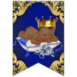 African American Royal Prince Baby Shower Bunting Flags