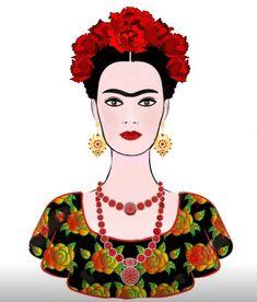 КАРТИНКИ для скрапбукинга и декупажа :) Love Painting, Fabric Painting, Friday Kahlo, Frida Paintings, Frida Kahlo Portraits, Frida Art, Motif Vintage, Mexico Art, Decoupage Vintage