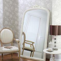 2ed4960709e6 Gallery Paris Cream Leaner Mirror Floor Standing Mirror