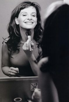 Juliette Binoche. Learn to take a compliment. Say thank you, and smile.