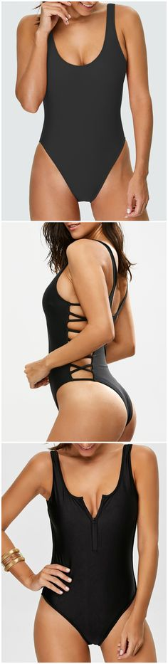 Up to 80% OFF! High Cut Backless Swimsuit. #Zaful #coverup #swimwear Zaful, zaful bikinis, zaful swimwear, style, outfits,sweater, hoodies, women fashion, summer outfits, swimwear, bikinis, micro bikini, high waisted bikini, halter bikini, crochet bikini, one piece swimwear, tankini, bikini set, cover ups, bathing suit, swimsuits, summer fashion, summer outfits, Christmas, ugly Christmas, Thanksgiving, Gift, New Year Eve, New Year 2017. @zaful Extra 10% OFF Code:ZF2017