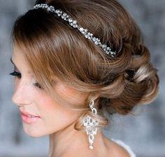 Bridal Hairstyles Low Bun With Headband