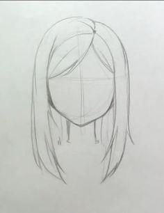 Hair Drawing Straight Hairstyles 39 Ideas For 2019 Haare zeichnen gl Art Drawings Sketches Simple, Pencil Art Drawings, Easy Drawings, Drawing Ideas, Drawing Guide, Drawing Reference, Drawing Techniques Pencil, Weird Drawings, Horse Drawings