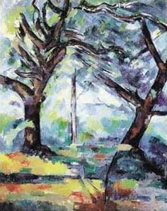 """Big Trees"" by Paul Cezanne"