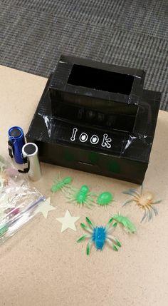 Fun glow-in-the-dark Look Box Dark Look, The Darkest, Children, Kids, Glow, Activities, Learning, Projects, Crafts