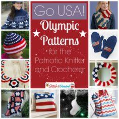 Go USA Olympic Patterns Knit Crochet 1024x1024 Go USA! Olympic Patterns for the Patriotic Knitter and Crocheter