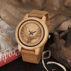 A wooden watch C32 - Shop Shak