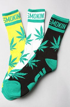 DGK  The Stay Smokin' 3-Pack Socks in Black, White, & Yellow