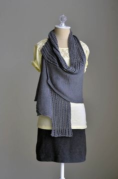 """I love this deconstructed garment called the """"Pathways Vest"""" by EspaceTricot. They have a beautiful selection of fine patterns and yarns. Better than that - it is from FRANCE #mondeuxamour"""