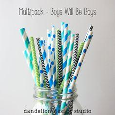 Boys Will Be Boys Paper Straws