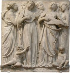 ET CYTHARA. The ten panels of the chorus by Luca della Robbia, one of the masterpieces of the 14th century sculpture.