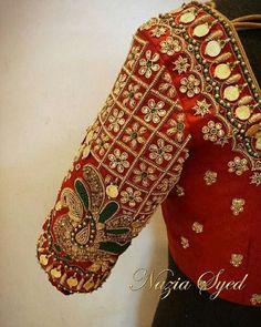 Kids Blouse Designs, Bridal Blouse Designs, Blouse Designs Silk, Hand Designs, Mirror Work Blouse Design, Pattu Saree Blouse Designs, Maggam Work Designs, Designer Blouse Patterns, Kurti Patterns