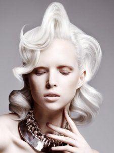 Fabulous Platinum Augmented Vintage Hairstyle