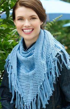 Rose Filet Triangle free crochet pattern
