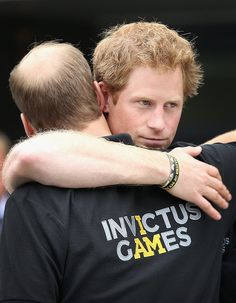 Prince William showed his support for his younger brother at the Invictus Games in London in September 2014.