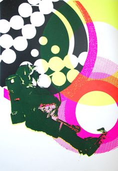 Astronaut 1 silkscreen poster by KATE BANAZI
