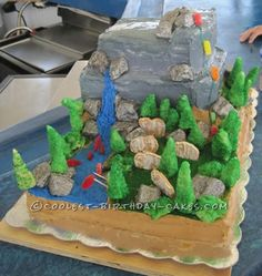 Coolest El Capitan Rock Climbing Cake ...This website is the Pinterest of birthday cakes