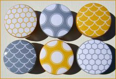 Dresser Knobs  Drawer Knobs  Yellow and by SweetPetitesBoutique