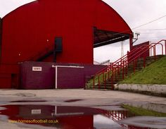 The big curved red shed, Middlesbrough,England year1991 by Stuart Roy Clarke #FLKickOff #Boro