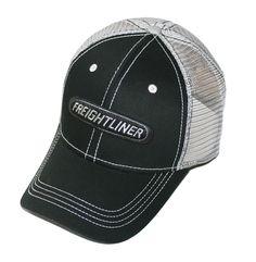 6b11b3f8552 Freightliner Merchandise - Freightliner Trucks Run Smart Black   Gray Mesh  Trucker Snapback Cap - Freightliner