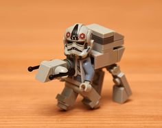 """archiemcphee: """"Using a minimal number of pieces, LEGO enthusiast solscud created an awesomely clever series of Star Wars-themed minifig characters and vehicles based on all three original Star Wars. Lego Stormtrooper, Lego Robot, Lego Mecha, Disney Star Wars, Lego Star Wars, Legos, Lego Costume, Costumes, Super Troopers"""