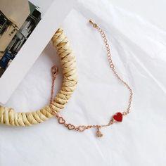 Simple Bracelets, Cute Bracelets, Flower Hair Clips, Flowers In Hair, Cute Sun, Cute Fruit, Strawberry Milk, Tube Socks, Heart Bracelet