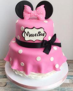 Minnie cake for a 2nd birthday party today. 💕 I love this Minnie dress design.. Adorable! Happy 2nd birthday, Madeline! #cakemeaway #cakemeawayfresno #2ndbirthday #2ndbirthdaycake #minniemousebirthday #minniemousecake #pinkminnie #minniedress #minniemouse #disney #polkadots #customcakes #fondant #cakesofinstagram #cakestyle #handmadewithlove