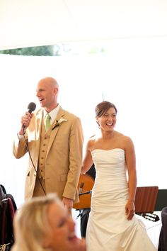 speeches. (really love that dress too!)